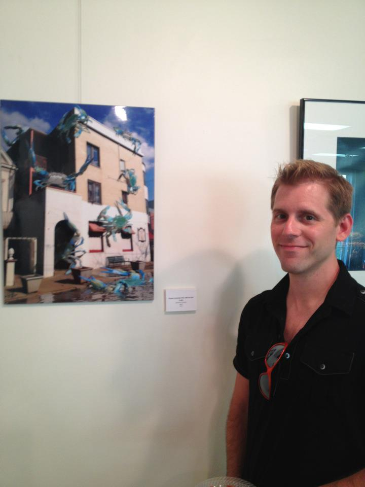 Me and my work at the exhibit