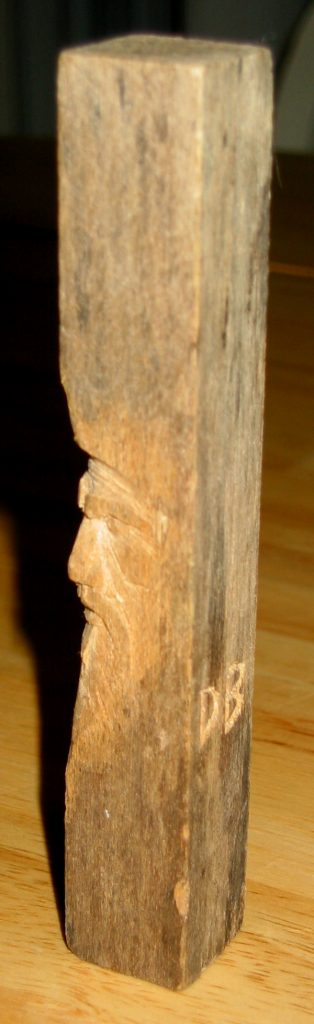 """Old Man Carving"""