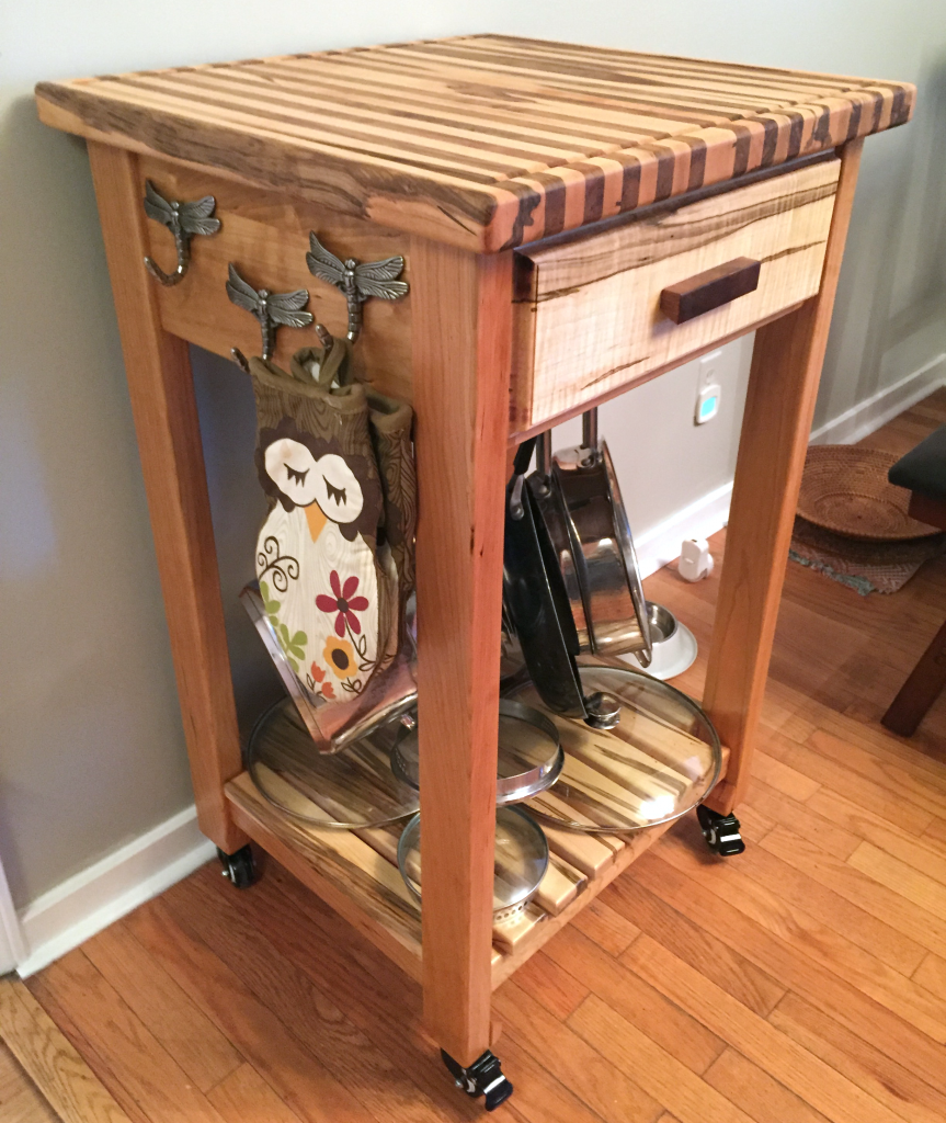 Butcher Block Kitchen Island Cart Daniel D Brown 2017 Wood Laughing Mantis Studio