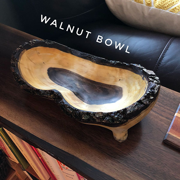 Power-Carved Walnut Bowl - Daniel D  Brown, 2018 - Laughing